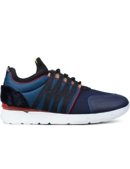 MSGM Blue 4 Eye Webbing Sneakers Picture