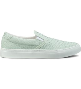 Diemme Silence White Python Skin Garda Slip-On Shoes Picture