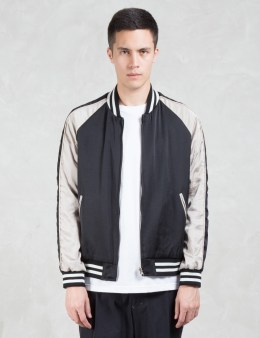 VALLIS BY FACTOTUM Contrast Sleeve Raglan Bomber Jacket Picture