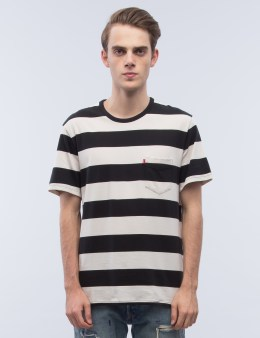 Levi's Stripe Faded Sunset Pocket S/S T-Shirt Picture