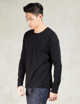 wings + horns Black Mesh Jersey Crewneck Sweatshirt Picture