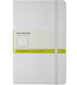 MOLESKINE White Plain Large Notebook Picture