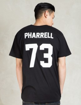 LES (ART)ISTS Black PHARRELL73 Football T-Shirt Picture