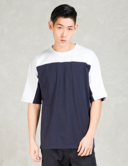 Still Good White/navy Oversize Color Block T-shirt Picture