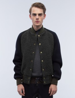 kolor Textured Wool Varsity Jacket Picture