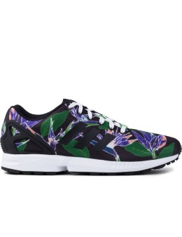 adidas Originals Black Flower/White B34518 ZX Flux Shoes Picture