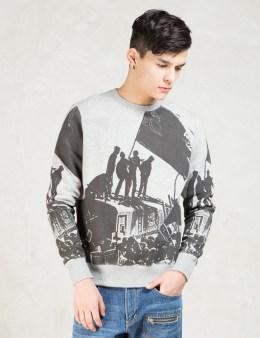 ETHOS Grey Riot Crewneck Sweatshirt Picture