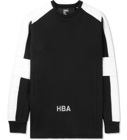 Hood By Air. Black Padded Stripe Sweater Picture