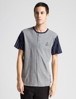 HUF Grey/Navy Huf Triangle Baseball T-Shirt Picture