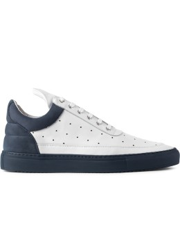 Filling Pieces Navy Messey Low Top Sneakers Picture