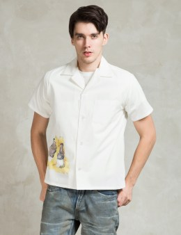Human Made White Hawaiian Shirt Picture