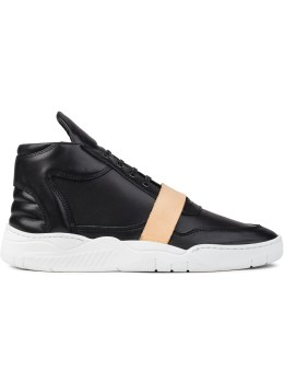 Filling Pieces Leather Strap Mid Top Transformed Sneakers Picture