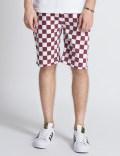 FUCT SSDD White/Burgundy Checker Flag Shorts Picture