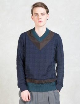 kolor Houndstooth V-neck Sweater Picture