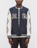 White Mountaineering Embroidered Emblem Saitos Taffeta 3L Varsity Jacket Picutre