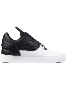Filling Pieces Black/white Black/white Mesh Low Top Sneakers Picture