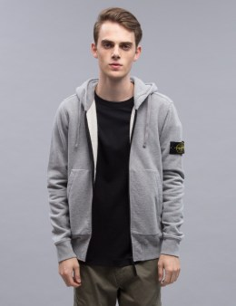 STONE ISLAND Zip Hoodie With Arm Logo Picture