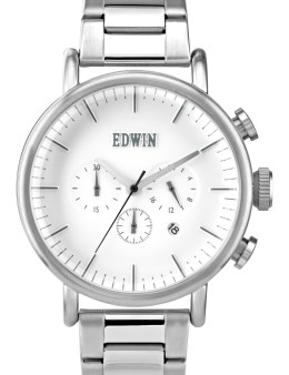 EDWIN Watch Silver With White Dial Element Picture