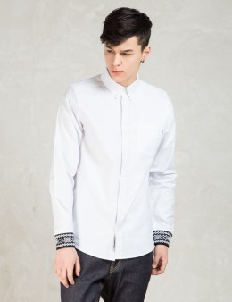 Carhartt WORK IN PROGRESS White Dave L/S Oxford Shirt Picture