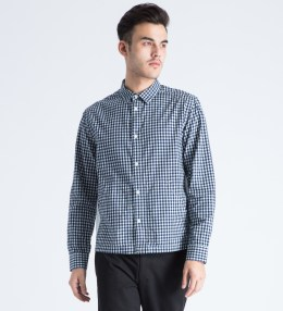 LIFUL Navy Gingham Mixed Shirt Picture