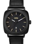 EDWIN Watch Black Dial With Black Leather Band Julius Picture