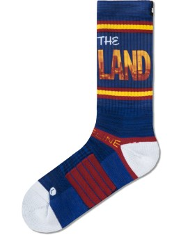 Strideline Navy The Land Strapped Fit 2.0 Socks Picture
