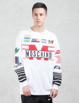 MOSCHINO Multi Logo Racer Sweatshirt Picture