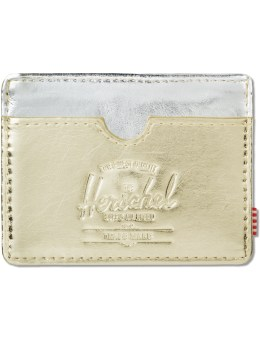 Herschel Supply Co. Gold /Silver Charlie Wallet Picture