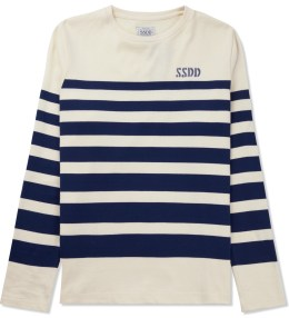 FUCT SSDD White/Navy Border L/S T-Shirt Picture