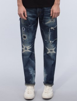 Denim by Vanquish & Fragment Five Years Wash Wide Straight Denim Jeans Picture