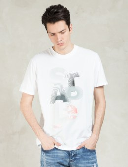 Staple White S/S Sunburst T-Shirt Picture