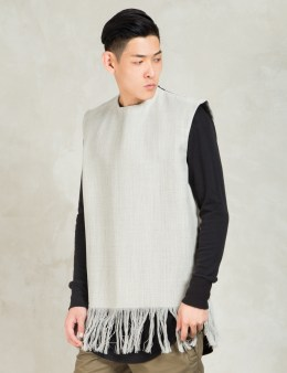 Matthew Miller Grey Kvadrat Tassled Vest Picture