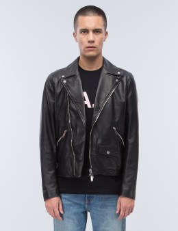 Palm Angels Embroidered Leaf Perfecto Jacket Picture