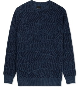 Barney Cools Denim Ripple Knit Sweater Picture