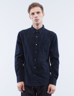 Denim by Vanquish & Fragment Checker Button Down L/S Shirt Picture