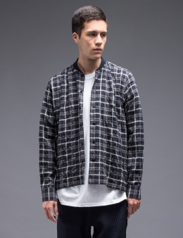 YMC Check Rib Collar L/S Shirt Picture