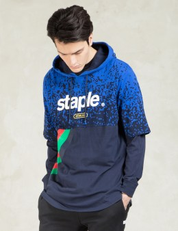 Staple Navy Dynamic Hooded T-Shirt Picture