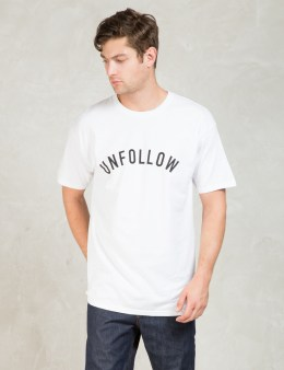 Us Versus Them White Unfollow T-Shirt Picture