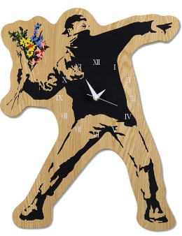 "Medicom Toy Sync.-Brandalism  x Karimoku ""Flower Bomber"" Wall Clock Picture"