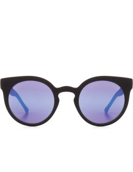 KOMONO Black Rubber Purple Mirror Series Lulu Sunglasses Picture