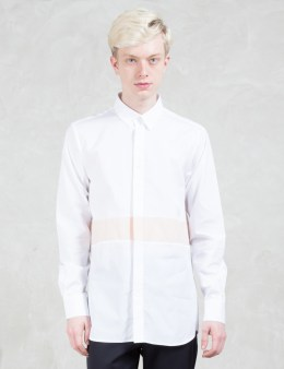 Matthew Miller Newman Antique White Panel L/S Shirt Picture