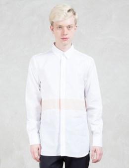 Matthew Miller Newman Antique White Panel L/S Shirt Picture