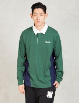 UNDEFEATED Green Rugby Shirt L/sl Picture