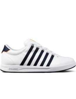 K-SWISS White with Navy Court Pro S Shoes Picture