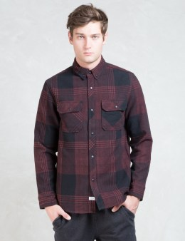 The Hundreds Red Town Flannel L/S Shirt Picture