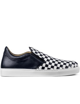 Mr. Hare Navy 2tone Check Loafers Picture