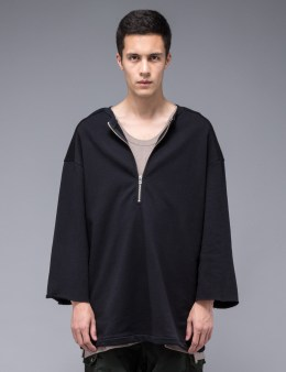 N.D.G. STUDIO Half Zip Kimono Sweatshirt Picture