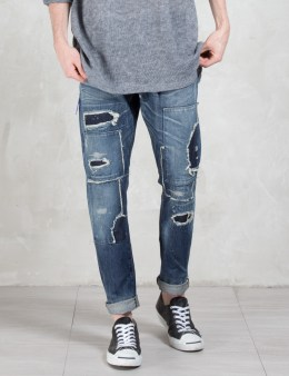Denim by Vanquish & Fragment Five Years Wash Tapered Denim Pants Picture