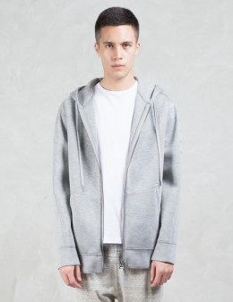 HELMUT LANG Sponge Fleece Tape Zip Up Hoodie Picture