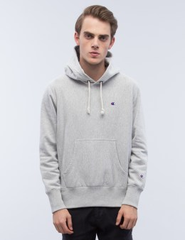 Champion Reverse Weave Classic Logo Hoodie Picture